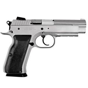 "EAA Witness Semi Auto Handgun 10mm 4.5"" Barrel 15 Rounds Steel Frame Black Rubber Grips Wonder Finish 999220"