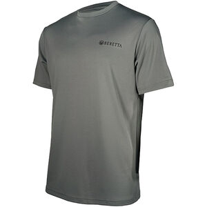 Beretta USA Tech T-Shirt Short Sleeve Moisture Wicking Fabric Gray Small