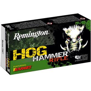 Remington Hog Hammer Copper 45-70 Gov Ammunition 20 Rounds 300 Grain Barnes TSX Copper Hollow Point Projectile 1925 fps
