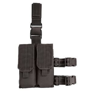 Voodoo Tactical Drop Leg Platform with M4/M16 Double Mag Pouch Black