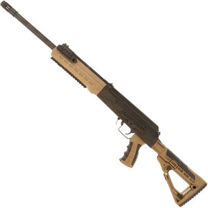 "Kalashnikov USA KS-12 Semi Auto Shotgun 12 Gauge 18.25"" Barrel 3"" Chamber 10 Rounds Collapsible Stock FDE  Polymer Furniture Matte Black"