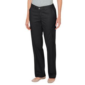 Women's Premium Relaxed Straight Leg Cargo Pant Size 8 Unhemmed Black