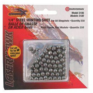 "Marskman 1/4"" Hunting Shot For Sling Shots Steel 250 Count"