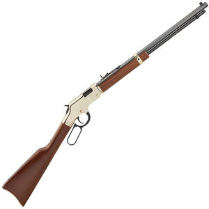 """Henry Repeating Arms Golden Boy Model H004V Lever Action Rimfire Rifle .17 HMR 20"""" Barrel 11 Rounds American Walnut Stock Golden Finish"""