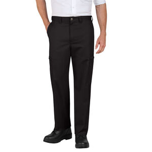 Men's Industrial Relaxed Fit Cotton Cargo Pant Size 34 Unhemmed Black