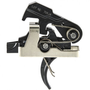 Geissele Automatics Super MCX SSA Trigger M4 Curved Trigger Shoe Semi-Automatic Two Stage 4.5lbs Non-Adjustable Steel Black
