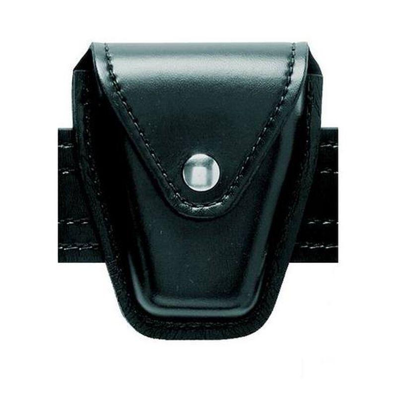Safariland Model 190 Handcuff Case Hinged Chrome Snap Plain Black