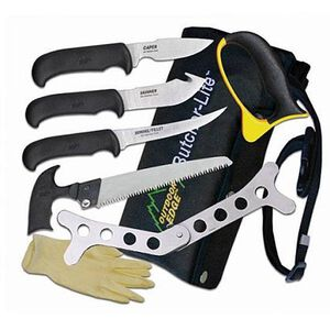 Outdoor Edge Butcher-Lite Field Dressing Kit with 8 Pieces Belt Scabbard BL-1