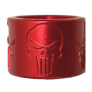 Backup Tactical 9mm Luger/.22 Long Rifle 1/2x28 Thread Protector Skull X Aluminum Red