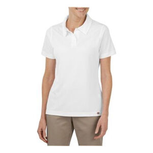 Dickies Women's Short Sleeve Performance Polyester Polo Shirt 2 Extra Large White FS405WH