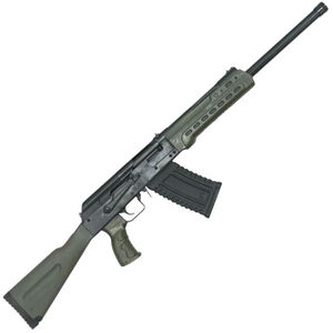 "Kalashnikov USA KS-12 Semi Auto Shotgun 12 Gauge 18.25"" Barrel 3"" Chamber 5 Rounds Fixed Sights OD Green Polymer Furniture Matte Black"