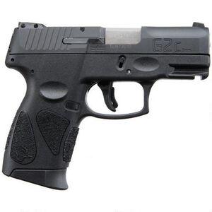 "Taurus PT111 G2C 9mm Luger Semi Auto Pistol 3.2"" Barrel 10 Rounds 3 Dot Sights Black Polymer Frame Black Finish"