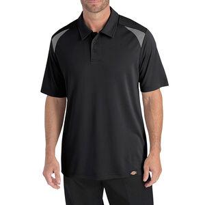 Dickies Men's Short Sleeve Performance Shop Polo XL Black/Smoke