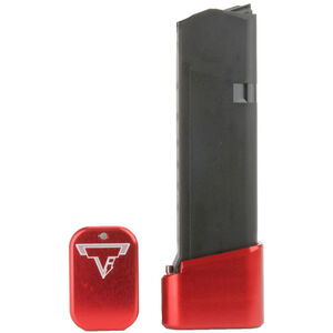 Taran Tactical Innovations +4/+5 GLOCK 19/23 Firepower Base Pad Kit Red