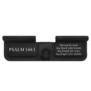 Bastion Gear AR-15 Custom Laser Engraved Ejection Port Door Dust Cover Psalm 144:1 Matte Black