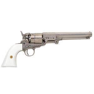 "Traditions 1851 Navy Revolver 44 Cal. 7.375"" Engraved Nickel"
