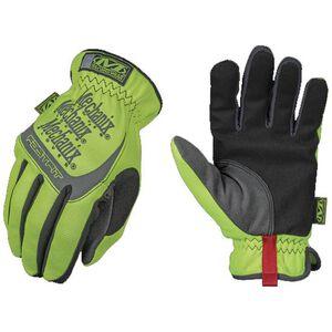 Mechanix Wear Hi-Viz Fast Fit Gloves Elastic Cuff Extra Large TrekDry Fabric High Visibility Yellow SFF-91