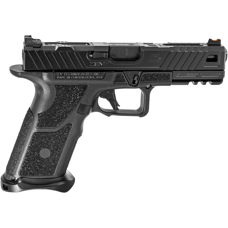 """ZEV O.Z-9 9mm Luger Semi Auto Pistol 4.5"""" Match Grade Barrel 17 Rounds Steel Receiver with Picatinny Accessory Rail Polymer Grip Frame Black"""