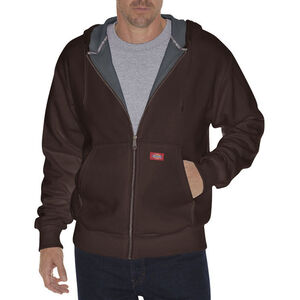 Dickies Men's Thermal Lined Fleece Hoodie 2XL Tall Dark Brown