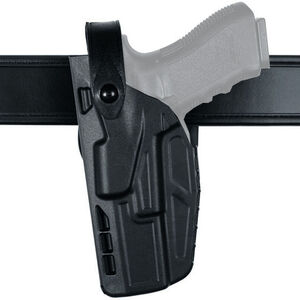 Safariland Model 7280 7TS SLS Mid Ride Duty Belt Holster Fits SIG Sauer P320and X-Full/X-VTAC 9/40  Left Hand SafariSeven STX Plain Matte Black