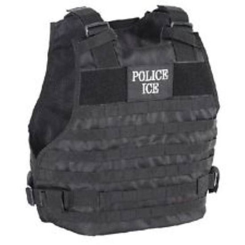 Voodoo Plate Carrier U.S. Immigration and Customs Enforcement Vest Medium to Large Black 20-9029001333