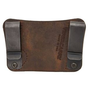 Versacarry Orion OWB/IWB Holster Size 2 Ambidextrous Leather Brown 22102