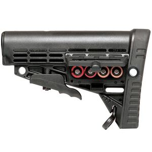 Command Arms Accessories AR-15 Collapsible Buttstock Mill Spec with Storage Polymer Black CMSM
