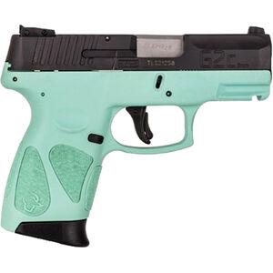"Taurus G2C 9mm Luger Semi Auto Pistol 3.2"" Barrel 12 Rounds 3 Dot Sights Cyan Polymer Frame Black Finish"