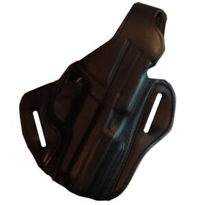 "DeSantis Thumb Break Scabbard Belt Holster S&W K Frame 4"" Barrel Right Hand Leather Black Finish 001BA14Z0"