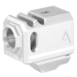 Agency Arms 417 Compensator GLOCK 43 1/2x28 Thread Pitch Front Site Hole Anodized Gray
