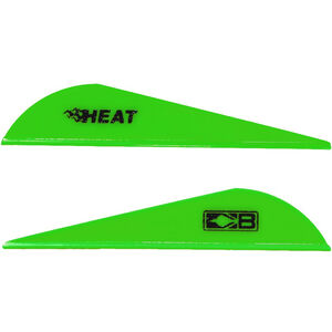 Bohning Blazer Heat Hunting Vanes 6 Grains Synthetic Neon Green 100 Pack