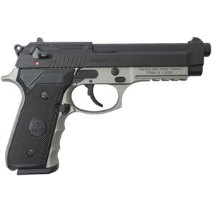 "EAA GiRSAN Regard MC 9mm Luger Semi Auto Pistol 4.9"" Barrel 18 Rounds Beretta 92 Style Pistol with Accessory Rail Ambidextrous Safety Two Tone Finish"