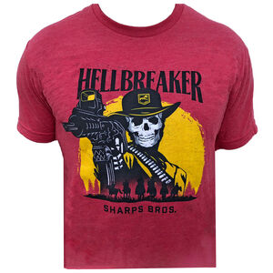 Sharps Bros Hellbreakers Men's Short Sleeve T-Shirt 50/50 Blend Red