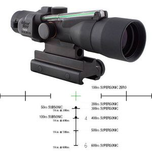 Trijicon 3x30 Compact ACOG Scope, Dual Illuminated Green Crosshair 300BLK 115/220gr. Ballistic Reticle with Colt Knob Thumbscrew Mount