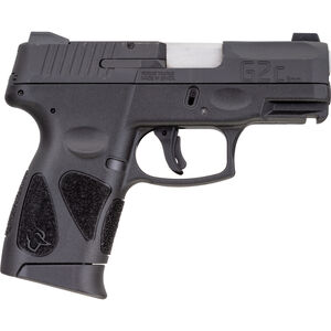 """Taurus G2C 9mm Luger Compact Semi Auto Pistol 3.20"""" Barrel 12 Rounds Single Action with Restrike Night Sights Thumb Safety Polymer Frame Black Finish"""