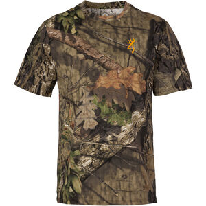 Browning Wasatch-CB Mens Camo T-Shirt 3X-Large Short Sleeve Regular Fit Cotton MOBUC