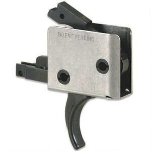 """CMC Triggers AR-15 Drop-In Two Stage Trigger Curved 2-4 LB .154"""" Small Pin Receiver Matte Black 93502"""