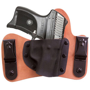 Viridian Crossbreed Minituck Holster for Ruger LC9/380 with Viridian Reactor Instant-On Green Laser Right Hand Black R5LC9CBMT