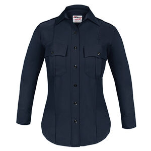 Elbeco TEXTROP2 Women's Long Sleeve Shirt Size 32 100% Polyester Tropical Weave Midnight Navy