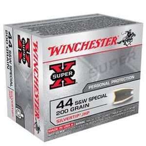Ammo .44 Special Winchester Super-X Silvertip Hollow Point 200 Grain 900 fps 20 Round Box