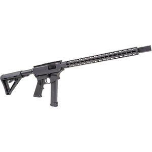 "Thureon Defense Competition Pistol Caliber Carbine Semi Auto Rifle 9mm Luger 16.5"" Barrel 17 Round GLOCK Magazine Billet Aluminum Receivers 15"" Octagonal Handguard Black Finish"