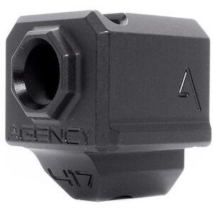 Agency Arms 417 Single Port Compensator GLOCK Gen 3 17/19/34 1/2x28 Thread Pitch Front Site Hole Black