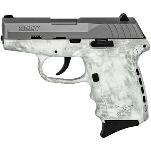 """SCCY CPX-2 9mm Luger Subcompact Semi Auto Pistol 3.1"""" Barrel 10 Rounds No Safety Kryptek Yeti Polymer Frame with Stainless Slide Finish"""