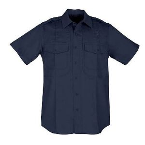 5.11 Tactical Twill PDU Short Sleeve B Class Women's Shirt Med Regular Polyester/Cotton Twill Midnight Navy