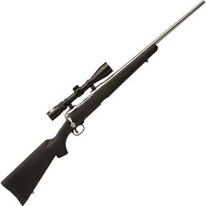 """Savage 116 Trophy Hunter XP Bolt Action Rifle .270 Win 22"""" Barrel 4 Rounds Synthetic Stock Stainless Finish 3-9x40 Nikon Scope 19732"""