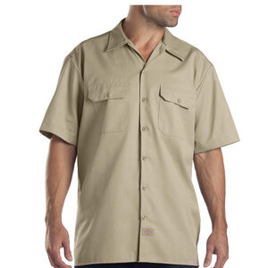 Dickies Men's Twill Work Shirt Extra Large Regular Desert Sand 1574DS