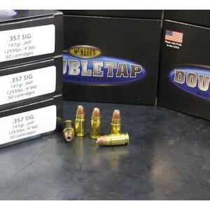 DoubleTap .357 SIG Ammunition 20 Rounds JHP 147 Grains 357S147HP20