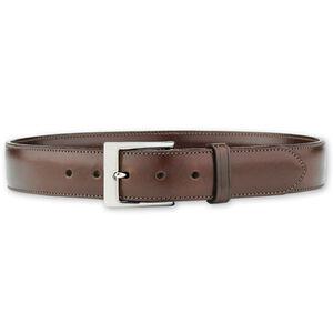 "Galco SB3 Dress Belt 1.5"" Wide Nickel Plated Brass Buckle Leather Size 36 Havana Brown"