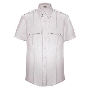 Elbeco Textrop2 Men's Short Sleeve Shirt Neck 15 100% Polyester Tropical Weave White