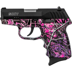"""SCCY CPX-2 9mm Luger Subcompact Semi Auto Pistol 3.1"""" Barrel 10 Rounds No Safety Muddy Girl Gloss Polymer Frame with Black Slide Finish"""
